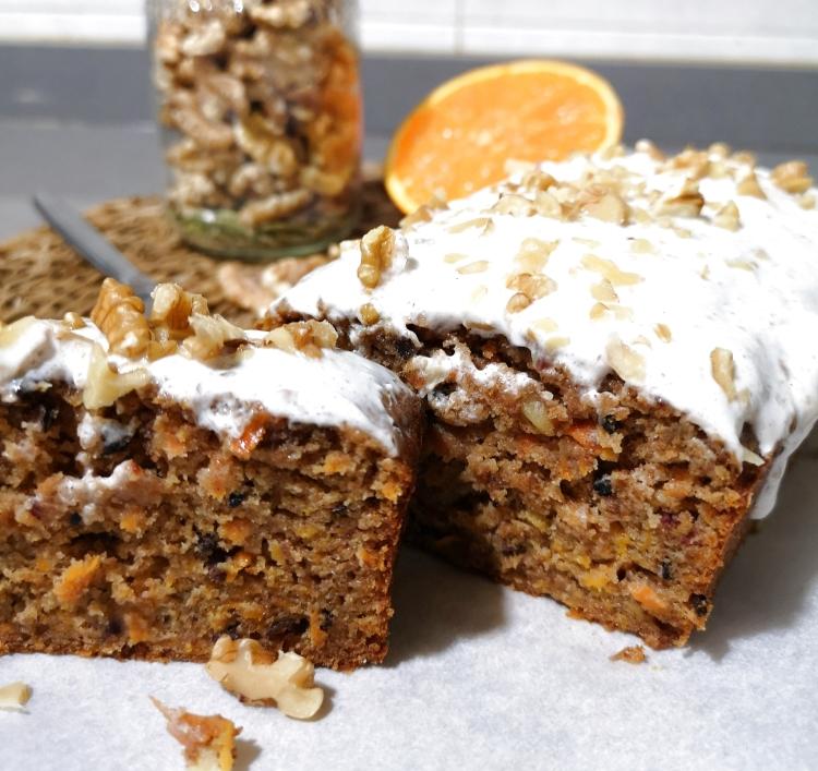 carrot cake con nueces