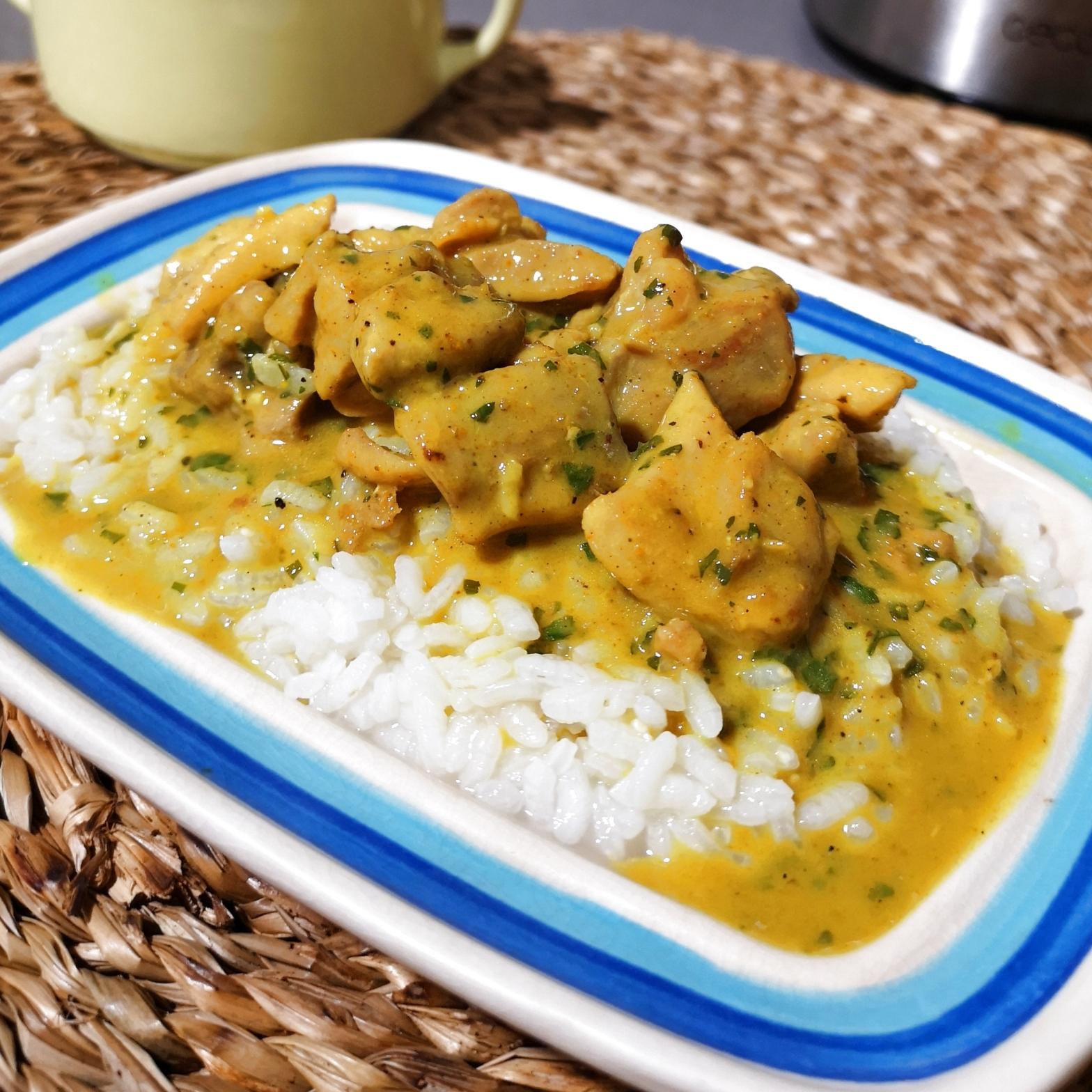 curry pollo saludable fácil